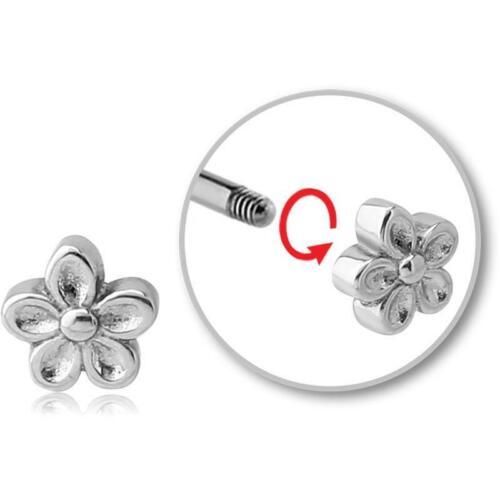 Aufsatz zum Schrauben 1.2 mm Blume Stahl Helixpiercing Traguspiercing Ersatz