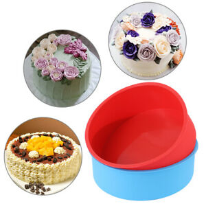 Silicone-Kitchen-Muffin-Mousse-Mould-Cake-Pan-Tray-Round-Pattern-Pudding-Mold