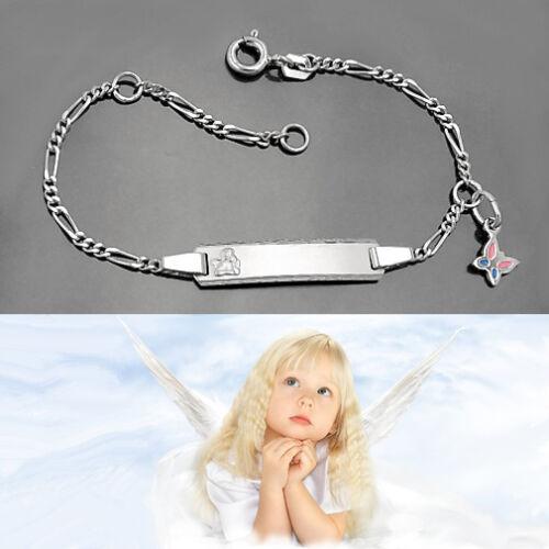 Baby Taufe Engel Armband Gott schütze Dich Silber 925 Schmetterling mit Gravur