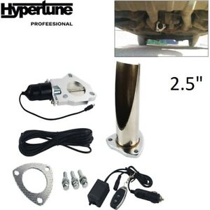 """2.5"""" Electric Exhaust System Exhaust Cutout Valve W/ Remote Control Be Cut Pipe"""