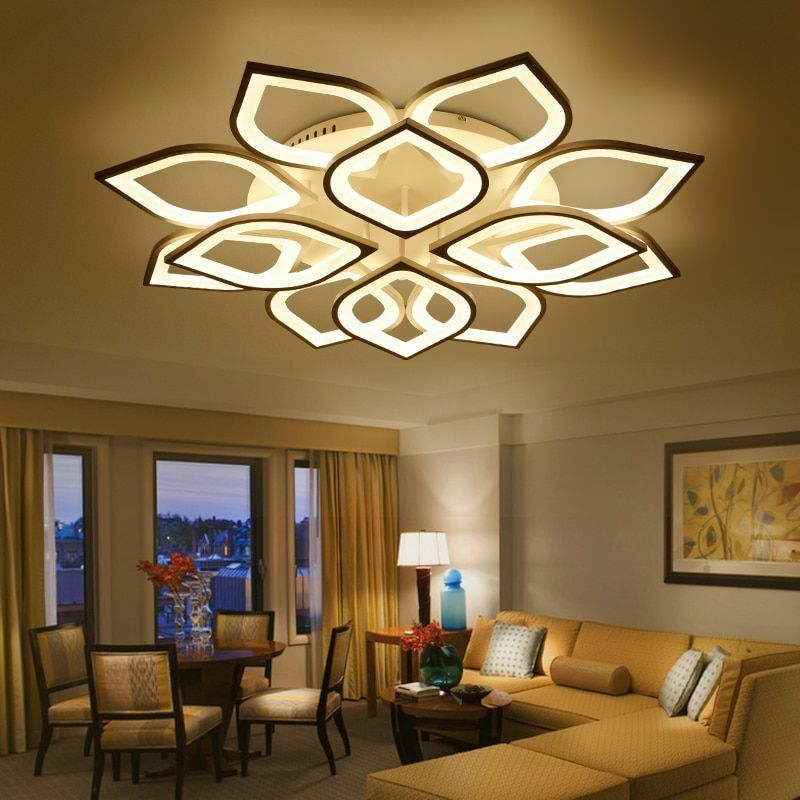 Gleam Acrylic Modern Led Chandelier For Living Room Bedroom Home Ceiling Fixture