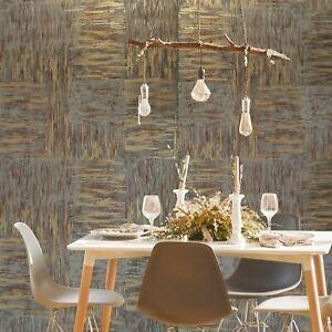 Wallpaper-rolls-brown-bronze-brass-gold-metallic-faux-plaster-stone-Textured-3D