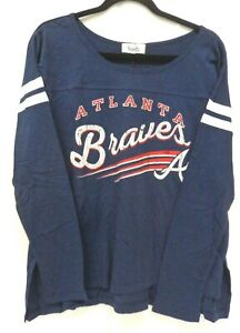 brand new ddac3 237a1 Details about Atlanta Braves Women's M Touch by Alyssa Milano Free Agent  Long Sleeve Shirt 161