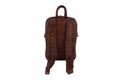 """Vintage Leather Backpack 15/"""" Laptop MacBook Rucksack Shoulder School Book Bag"""