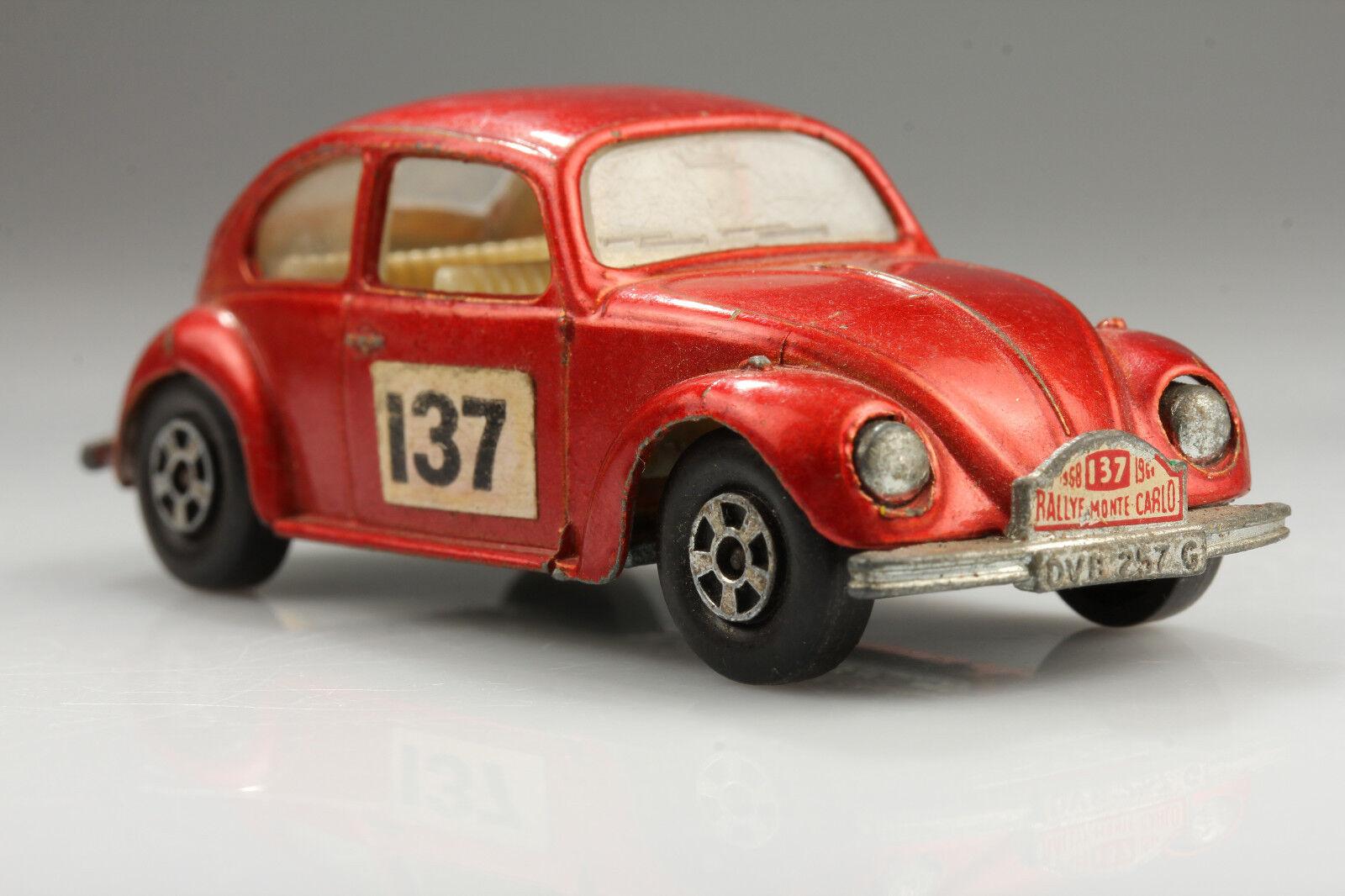 Lesney Matchbox No.15 VW1500 Beetle Rallye Monte Monte Monte Carlo Vintage Dirt Defects 202be4