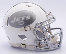 NFL American Football NEW YORK JETS - ICE ALTERNATE Riddell MINI SPEED HELMET