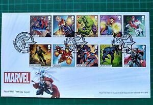 2019-Marvel-Character-Set-de-10-sur-Thor-FDC-Avenger-fermer-Eastleigh-PCM