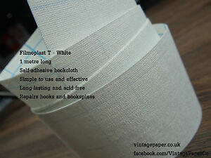 Filmoplast-T-White-3cm-x-1m-Book-Spine-Repair-Tape-Self-adhesive-book-cloth