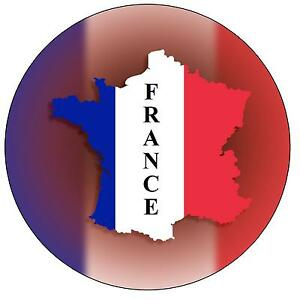 SOUVENIR NOVELTY ROUND FRIDGE MAGNET FLAG SIGHTS GIFTS CORSICA MAP