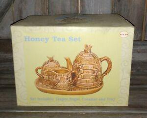 Nouveau Miel Tea Set HONEY BEES théière sucrier pot à lait Plateau Jardin Buddies