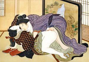 Repro Japanese Woodblock 'Shunga Style' Print - #010