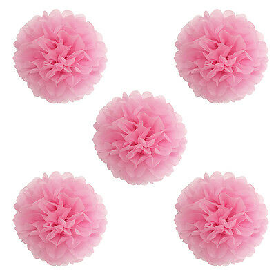5/10Pcs Wedding Party Home Hanging Tissue Paper Pom Pom Lantern Flower Balls
