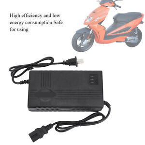 60V 12AH 2A Battery Charger For Electric Scooter Motorbike Bicycle Ebike EU Plug