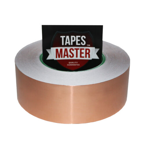 """50mmx50m Copper Foil Tape EMI Conductive Adhesive Ship from USA 2/"""" x 55 yds"""