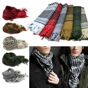 Mens-Lightweight-Military-Arab-Tactical-Desert-Army-Shemagh-KeffIyeh-Scarf-Wrap