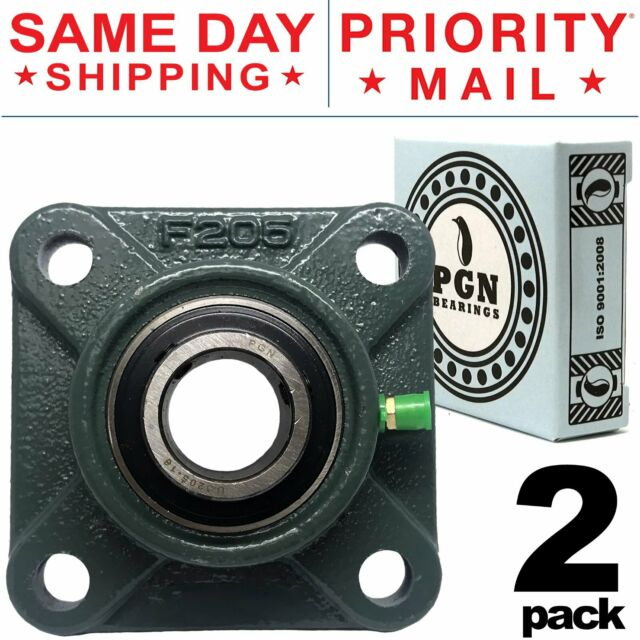 "UCF206-20 Pillow Block Flange Bearing 1-1//4/"" Bore 4 Bolt Solid Base 10PCS"