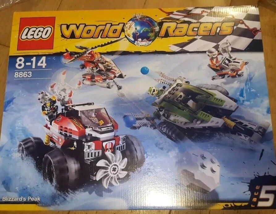 LEGO World Racers Blizzard's Peak set 8863 new sealed with box and instructions.