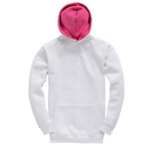 Cotton-Ridge-Kids-White-Plain-Hoodie-Hoodie-Sweatshirt-Hooded-Top-Pink-Printing