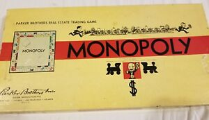 Vintage-Monopoly-Board-Game-Pieces-from-1936-1946-amp-1954-Parker-Brothers-MIX