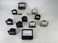 Lot Of 13 Vintage Assorted Panel Meter Gauges Simpson Motorola Fluke Tedeco