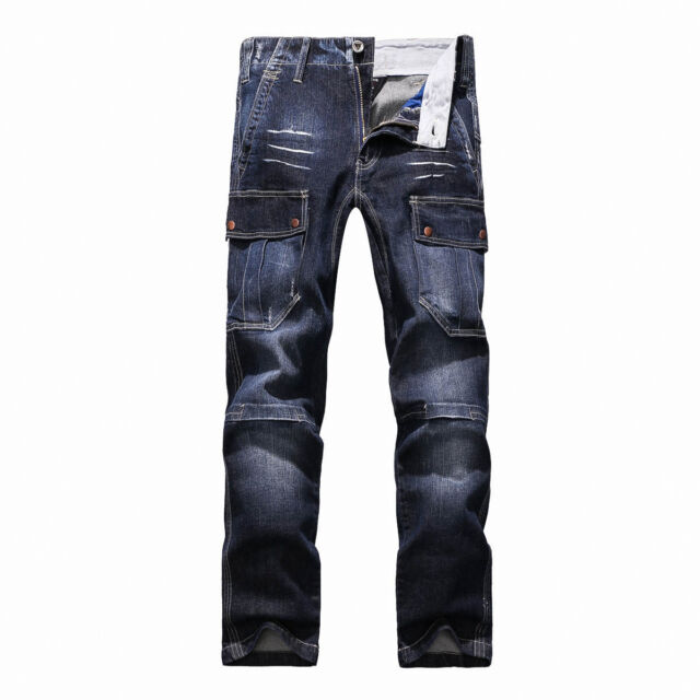 2b23852a Fox Jeans Men's Monroe Regular Fit Straight Blue Denim Mens Cargo Jeans  Size 36 for sale online | eBay