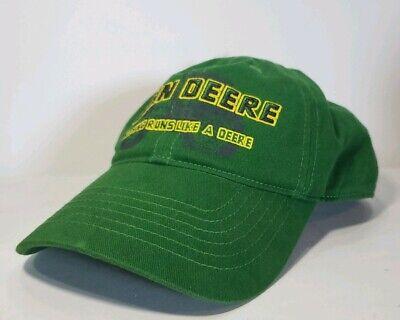 John Deere Baseball Cap Hat Green Adjustable 2 Available Small Medium Large XL