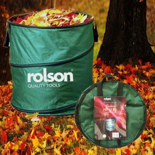 Rolson Garden Pop Up Bin Carry Handles & Tipping Strap Waste Refuse Grass Leaves