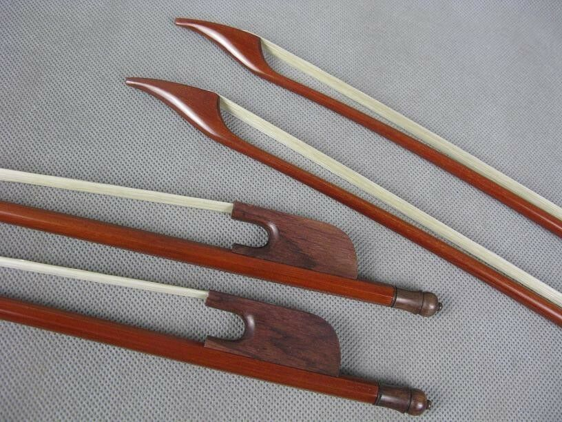 2pcs baroque style brazilwood 4 4 cello bows, straight strong bow   7115