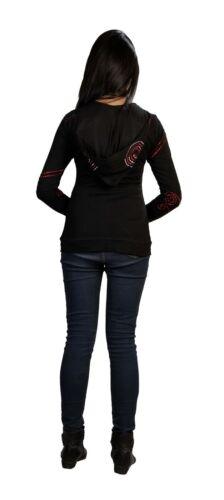 Stiplede Spiral Black Jakke Med Broderi Sinker Tattopani Long Sleeve Ladies wxvf0nAPqp