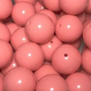 10 pieces 20mm pink striped chunky bubblegum beads DIY baby necklaces