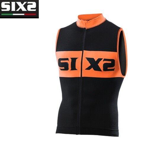 Trikot Ärmellos Trägerhemd Fahrrad Jersey SIXS schwarz Orange Fahrrad2 luxus