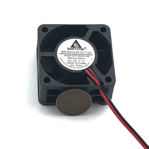12v 40mm Brushless DC Cooling Fan 40x40x20mm 4020 5 blades 2pin US Quick Ship