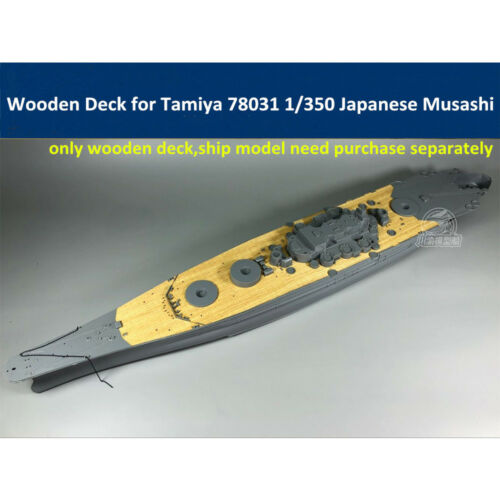 Wooden Deck for Tamiya 78031 1/350 Scale Japanese Battleship Musashi