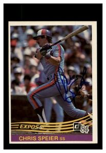Chris-Speier-Autograph-Signed-1984-Donruss-Montreal-Expos