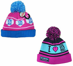 GIRLS-HAT-WOOL-KNITTED-WARM-WINTER-ONE-DIRECTION-BOBBLE-HATS-3-12Y-BNWT