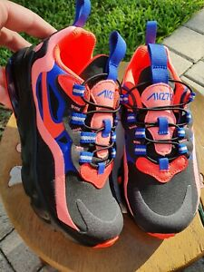 Nike Air Max 270 React Pink Blue Black Punch Girls Ps Brand New