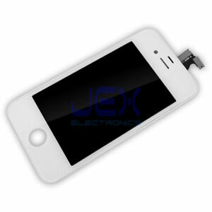 White-Full-Front-Frame-Digitizer-Touch-Screen-amp-LCD-Assembly-for-IPhone-4-4G-ATT