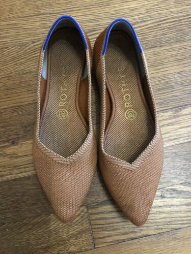 ROTHYS The Point Fawn Shoes size 8