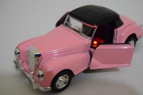 ROLLS ROYCE CONVERTIBLE 50/'S 1//32 DIECAST CAR MUSIC SOUND LIGHT OPENING DOOR