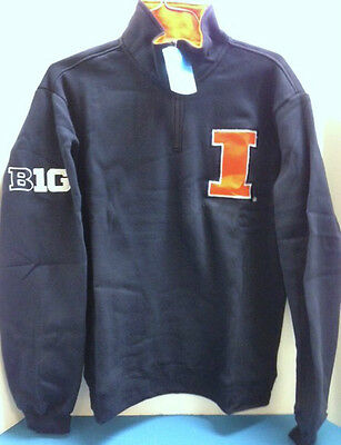 Illinois Illini Quarter Zip jacket.  new with tags.