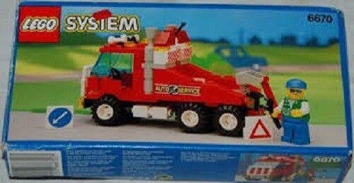 Lego Set 6670 Klassisch Stadt Auto Lkw Schutz Rigg Abschleppwagen Straße Service