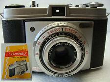 Appareil photo Kodak Rétinette f & sa notice. Objectif Angénieux  3,5/45