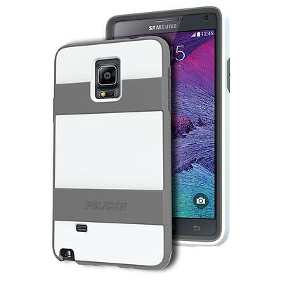New Pelican Progear Voyager Rugged Case for Samsung Galaxy Note 4 in White/Grey