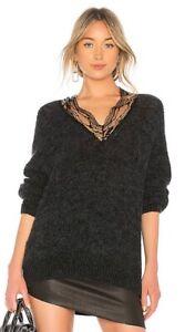 IRO-Diamon-Oversize-Lace-V-Neck-Sweater-RRP-799-BNWT-Sz-M-Made-In-France
