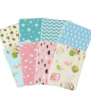 Baby Cotton Urine Mat Infant 3 Sizes Waterproof Bedding Changing Pad Nappy Cover