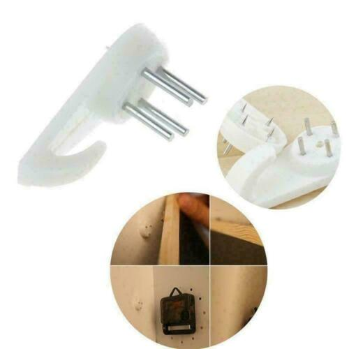 White Plastic Invisible Wall Mount Photo Picture Frame Hanger Hook Y6Q1 Nai A1H6