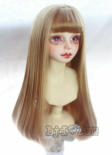 New Arrival 1//3 22-24cm SA,LUTS,BJD,PULLIP Wig  Brown Atmosphere fring Bjd wig