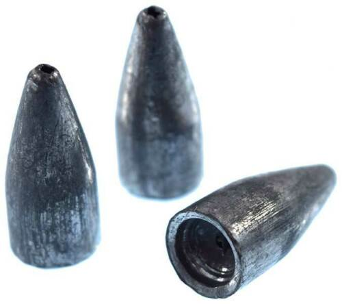 Bullet Weights BW132-25 Worm Weights 1//32 Ounce Slip Sinkers 25 Pack