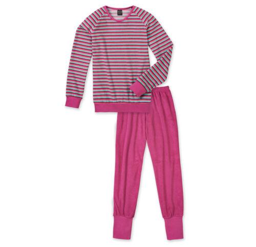 SCHIESSER Mädchen Pyjama lang Streifen Frottee 128 140 152 164 176 Schlafanzug