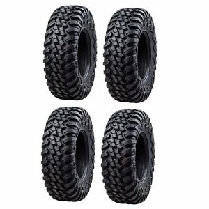 Tusk Terrabite Radial ATV UTV Tire Kit Set Of Four 4 Tires 27x9-14 And 27x11-14